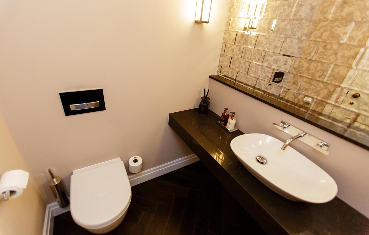 Art deco cloakroom sanctuary kitchens and bathrooms